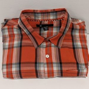 Volcom plaid button front shirt XXL